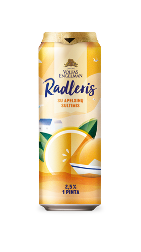 Radler with orange juice